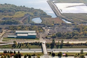 An aerial view of the Industrial Weldors & Machinists Shop Factory